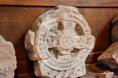 Chester, St John the Baptist Church, Remains of a Celtic cross-head
