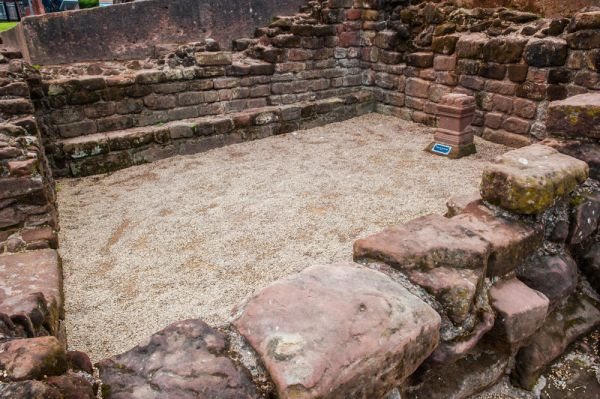 Chester Roman Amphitheatre photo, The shrine to the godess Nemesis