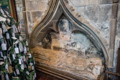 Chesterfield, Crooked Spire Church, Medieval effigy of a woman