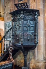 Chesterfield, Crooked Spire Church, The Jacobean font
