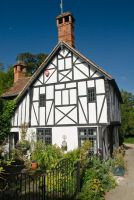 Chilham, Half timbered cottage gable end