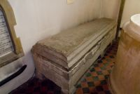 Chilham, St Mary, Purbeck marble sarcophagus