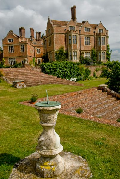 Chilham Castle photo, A sundial and the Jacobean house
