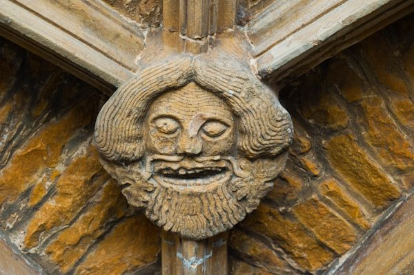 Green Man roof boss, Chipping Norton