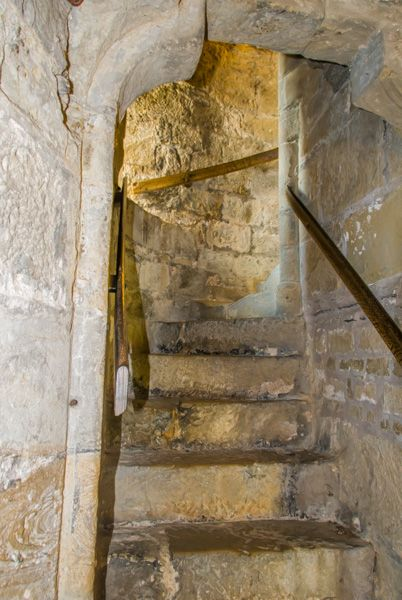 Chirk Castle photo, A spiral stair inside the castle walls