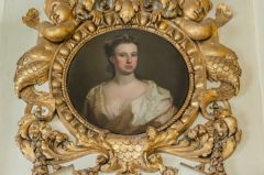 Chiswick House, 18th century portrait in a gilded frame