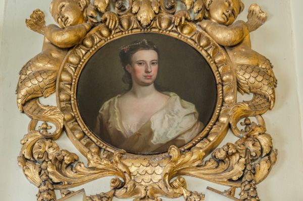 Chiswick House photo, 18th century portrait in a gilded frame
