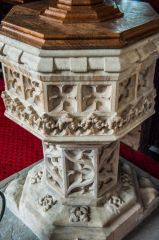 The ornate 15th century font