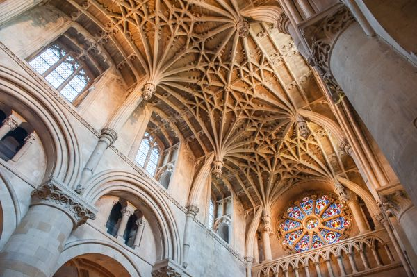 photo, The college chapel vaulting