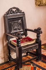 A Jacobean chair in the chancel