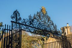 18th century wrought-iron Park gates on Cecily Hill