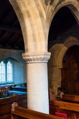Clanfield, st Stephen's Church, Romanesque nave pillar