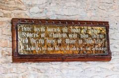 Clanfield, st Stephen's Church, Early 17th century memorial brass plaque