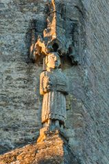 Clanfield, st Stephen's Church, 14th century figure of St Stephen