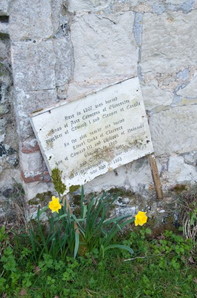 Clare Priory photo, Joan of Acre grave
