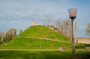 The castle mound