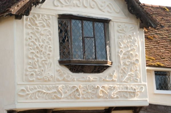 Clare Ancient House Museum photo, Pargeting on front gable