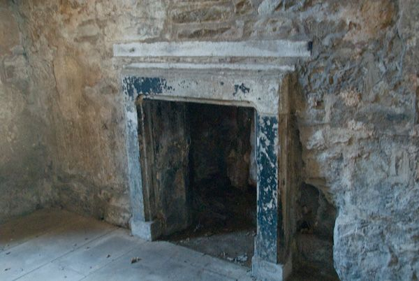 Clifton Hall photo, Ground floor fireplace