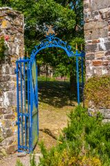 A gate to Clovelly Court house