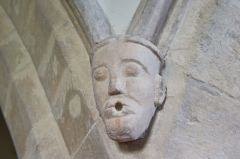 Coates, St Matthew's Church, Nave arcade carving