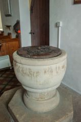 Codford St Mary Church, The Norman chalice font