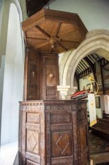 Codford St Mary Church, The Jacobean pulpit