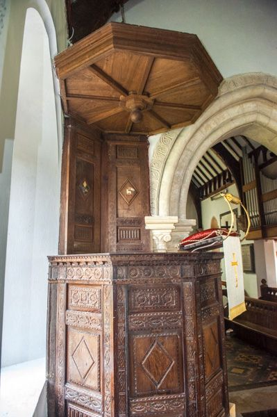Codford St Mary Church photo, The Jacobean pulpit