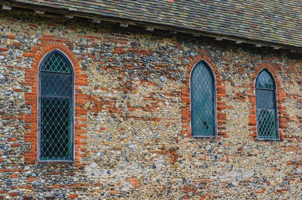 Coggeshall Abbey photo, Restored chapel windows
