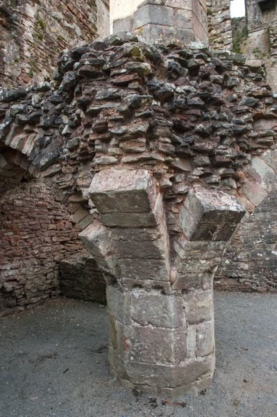 Coity Castle photo, Remains of vaulting in the keep