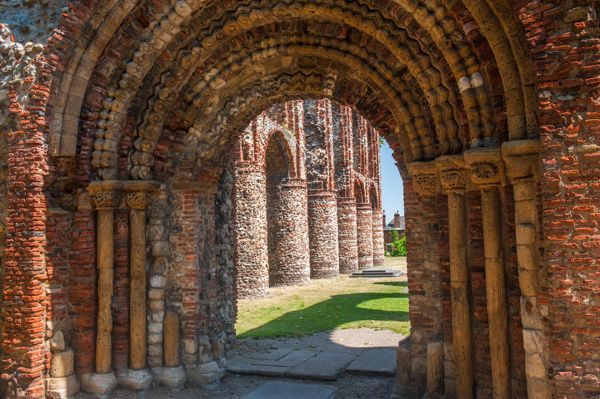 St Botolph's Priory photo, View through the west door to the abbey church