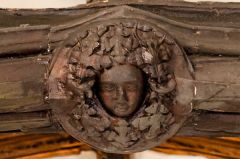 Wooden roof boss, chancel