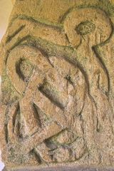 Saxon cross-shaft fragment in the porch