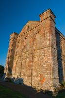 Coldingham Priory, East wall of church