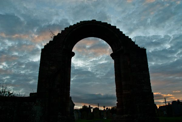 Coldingham Priory photo, South transept arch