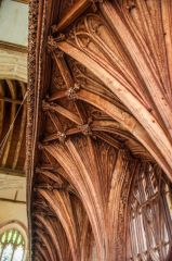 The rood screen canopy