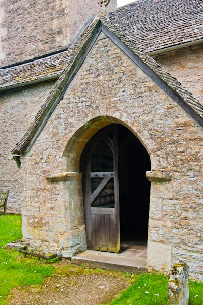 Coln Rogers Saxon Church photo, South porch