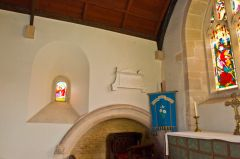 The chancel, north wall