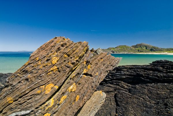 Isle of Colonsay photo, Kiloran Bay rock formations
