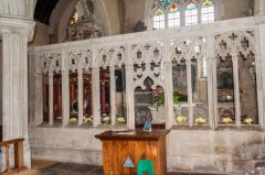 Colyton, St Andrew's Church, The Pole Chapel stone screen