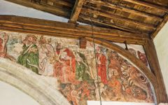 Combe Longa, St Laurence Church, Wall painting, south section