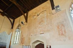 Combe Longa, St Laurence Church, North wall painted texts