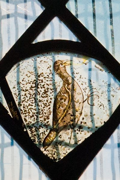 Combe Longa, St Laurence Church photo, Grisailles bird window