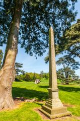 Compton Verney House, The Obelisk, where the old chapel stood