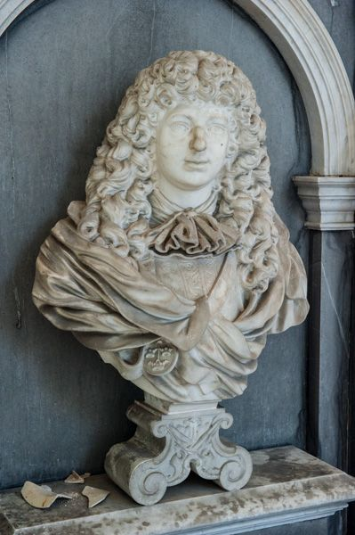 Compton Verney Chapel photo, Bust of Sir Greville Verney, 1668