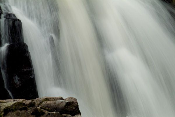 Conwy Falls photo, Waterfall closeup