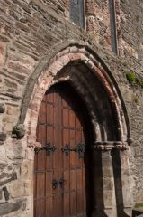 Conwy, St Mary's and All Saints Church, The Gothic west door of St Marys