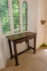 Woode altar table and east window