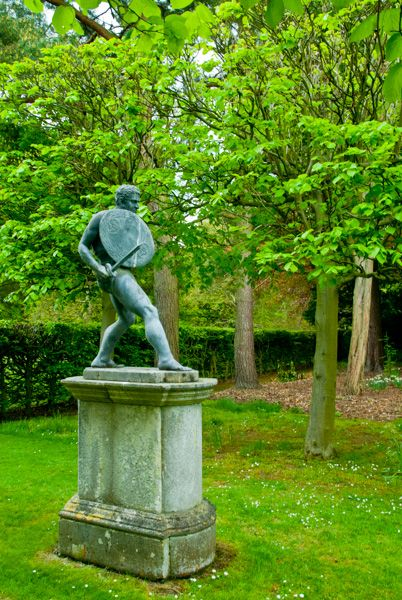 Cottesbrooke Hall and Gardens photo, Statue on Philosopher's Walk