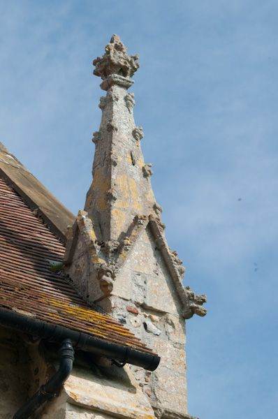 Cotton, St Andrew's Church photo, East turret