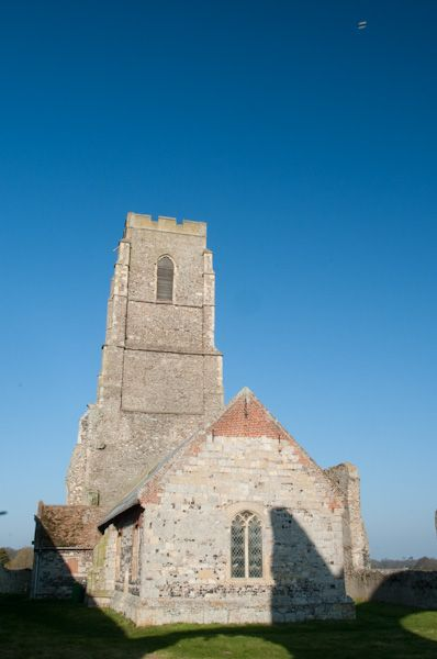 Covehithe, St Andrew's Church photo, Church and tower